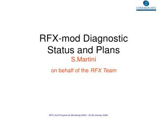 RFX-mod Diagnostic  Status and Plans S.Martini on behalf of the  RFX Team