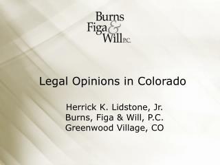 Legal Opinions in Colorado