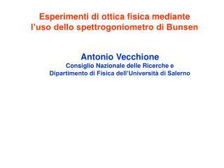 Esperimenti di ottica fisica mediante  l�uso dello spettrogoniometro di Bunsen