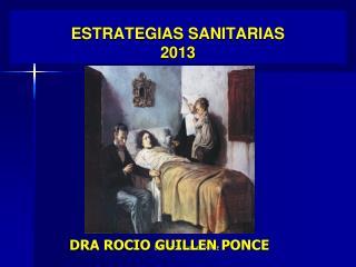 E STRATEGIAS SANITARIAS 2013
