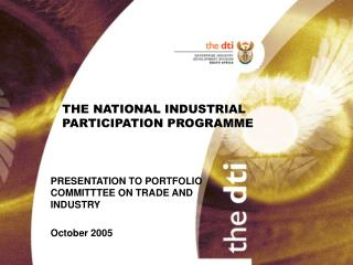 THE NATIONAL INDUSTRIAL PARTICIPATION PROGRAMME
