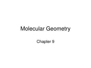 Molecular Geometry: VSEPR