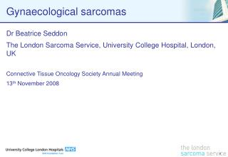 Gynaecological sarcomas