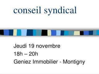 conseil syndical