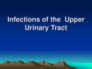 Infections of the  Upper Urinary Tract