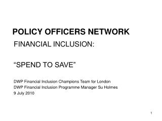 POLICY OFFICERS NETWORK