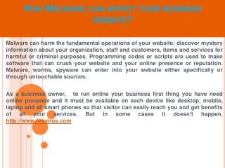 How Malware can affect your business website?