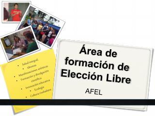 Área de formación de Elección Libre