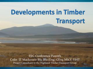 Developments in Timber Transport