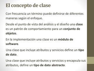 El concepto de clase