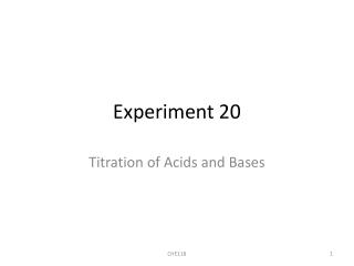 Experiment 5 NaOH Standardization