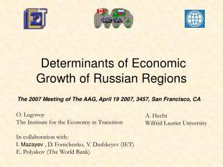 Determinants of Economic  Growth of Russian Regions