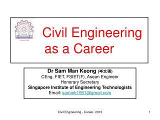 Civil Engineering as a Career