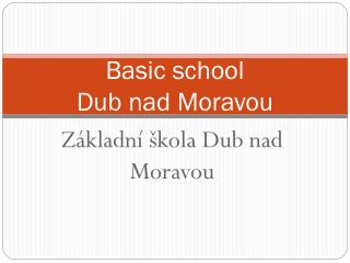 Basic school  Dub nad Moravou