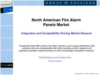North American Fire Alarm  Panels Market Integration and Compatibility Driving Market Demand