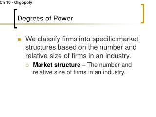 Degrees of Power
