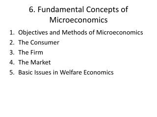 6. Fundamental  Concepts of Microeconomics