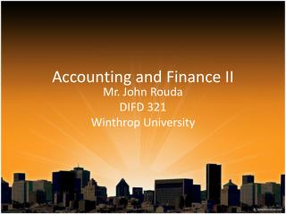 Accounting and Finance II