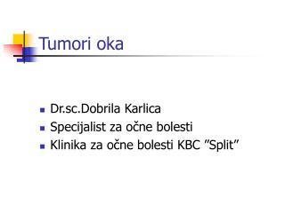 Tumori oka