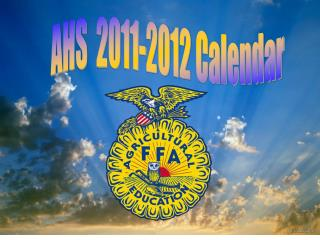 AHS  2011-2012 Calendar
