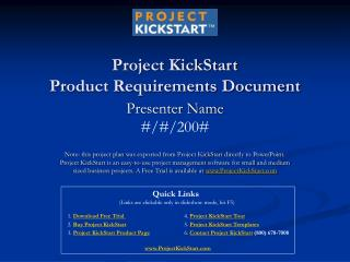 Project KickStart  Product Requirements Document