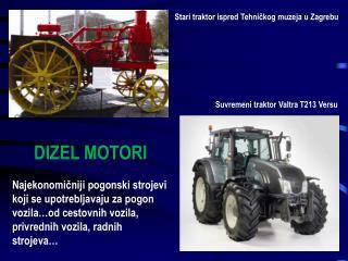 Stari traktor ispred Tehničkog muzeja u Zagrebu