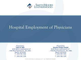 Hospital Employment of Physicians