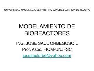 MODELAMIENTO DE BIOREACTORES