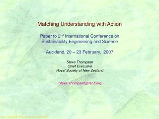 Steve Thompson, Royal Society of New Zealand
