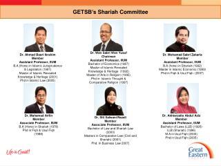 GETSB's  Shariah  Committee