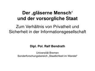 I. Privatheit und Technologie  im Wandel