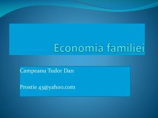 Economia familiei
