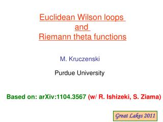 Euclidean Wilson loops  and  Riemann theta functions