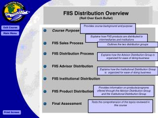 FIIS Distribution Overview (Roll Over Each Bullet)