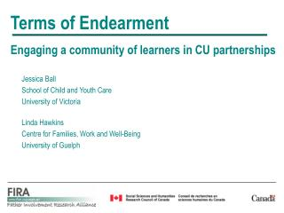 Terms of Endearment Eng aging a community of learners in CU partnerships