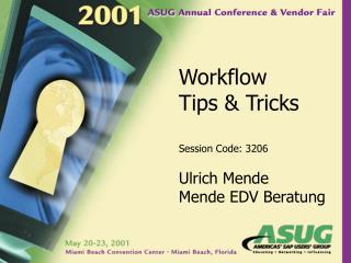 Workflow Tips & Tricks