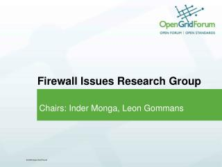 Firewall Issues Research Group