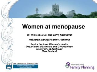 Women at menopause