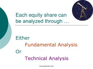 Each equity share can be analyzed through …
