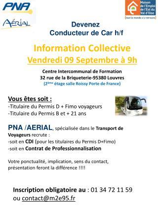 Devenez  Conducteur de Car h/f