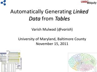 Automatically Generating  Linked  Data  from  Tables