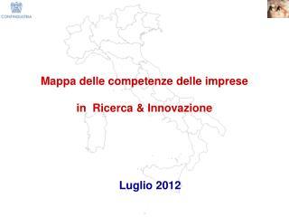 Mappa delle competenze delle imprese  in  Ricerca & Innovazione