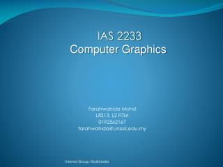 Farahwahida Mohd LRS13, L2 FITM 0192562167 farahwahida@unisel.my