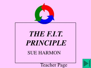 THE F.I . T. PRINCIPLE