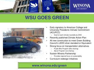 WSU GOES GREEN