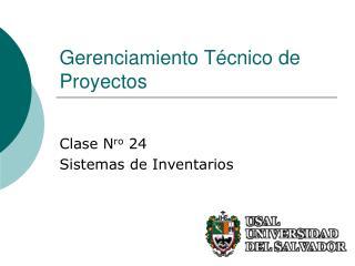 Gerenciamiento Técnico de Proyectos