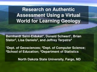 Research on Authentic Assessment Using a Virtual World for Learning Geology