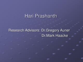 Hari Prashanth