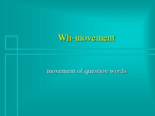 Wh-movement