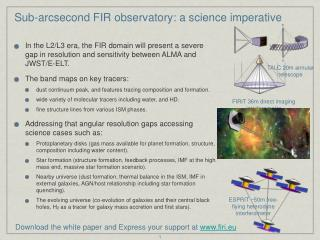 Sub-arcsecond FIR observatory: a science imperative